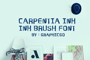 Carpentia Ink Brush Font