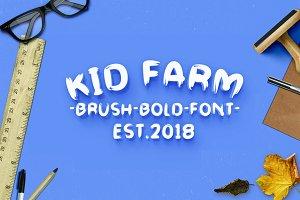 Kid Farm Brush-Font