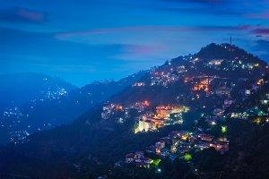Night view of Shimla town, Himachal