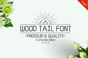 Wood Tail Font