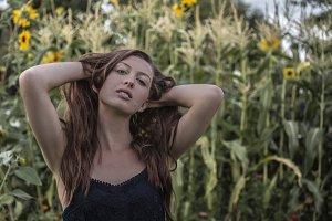 Portrait of Contemplative Woman