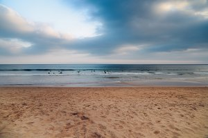 Surfers on beach - Fine Art