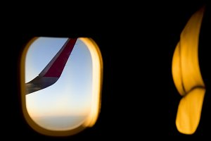 Sunset in a Flight