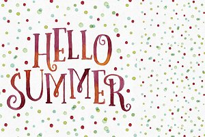 Hello Summer + Dots Pattern