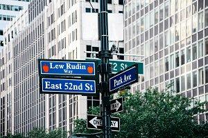 Lew Rudin Way road sign in Midtown