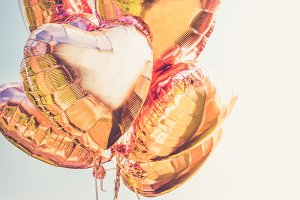 Bunch of Heart shaped balloons