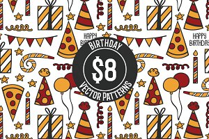 Birthday Repeat Vector Pattern