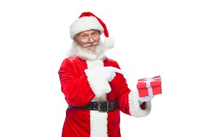 Christmas. Smiling Santa Claus in