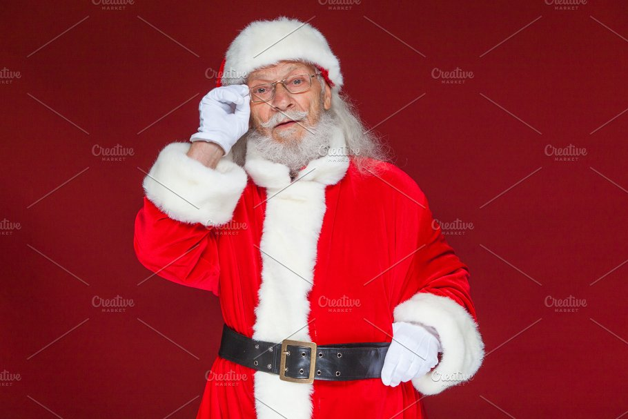 e0aef479f3f28 Christmas. Serious Santa Claus in ~ People Photos ~ Creative Market