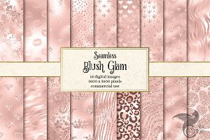 Blush Pink Glam Digital Paper