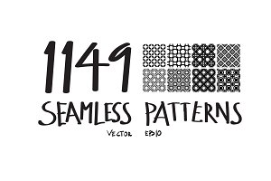 1149 Geometric Seamless Patterns
