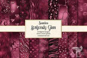 Burgundy Glam Digital Paper