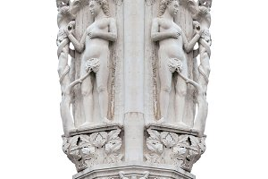 Isolated Ornate Column Piece Photo