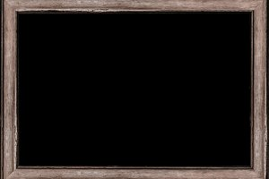 White Frame with Decorated Borders