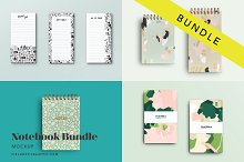 Notebook Mockup Bundle by  in Product Mockups