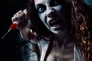 Horror: crazy evil nurse (doctor)