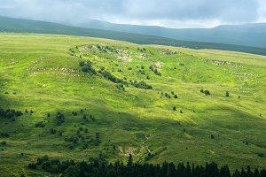 Mountain landscape of highland