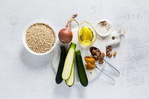 ingredients for risotto with whole g