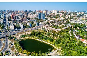 Aerial view of Kiev with residential