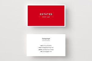 Real Estate Business Card Template