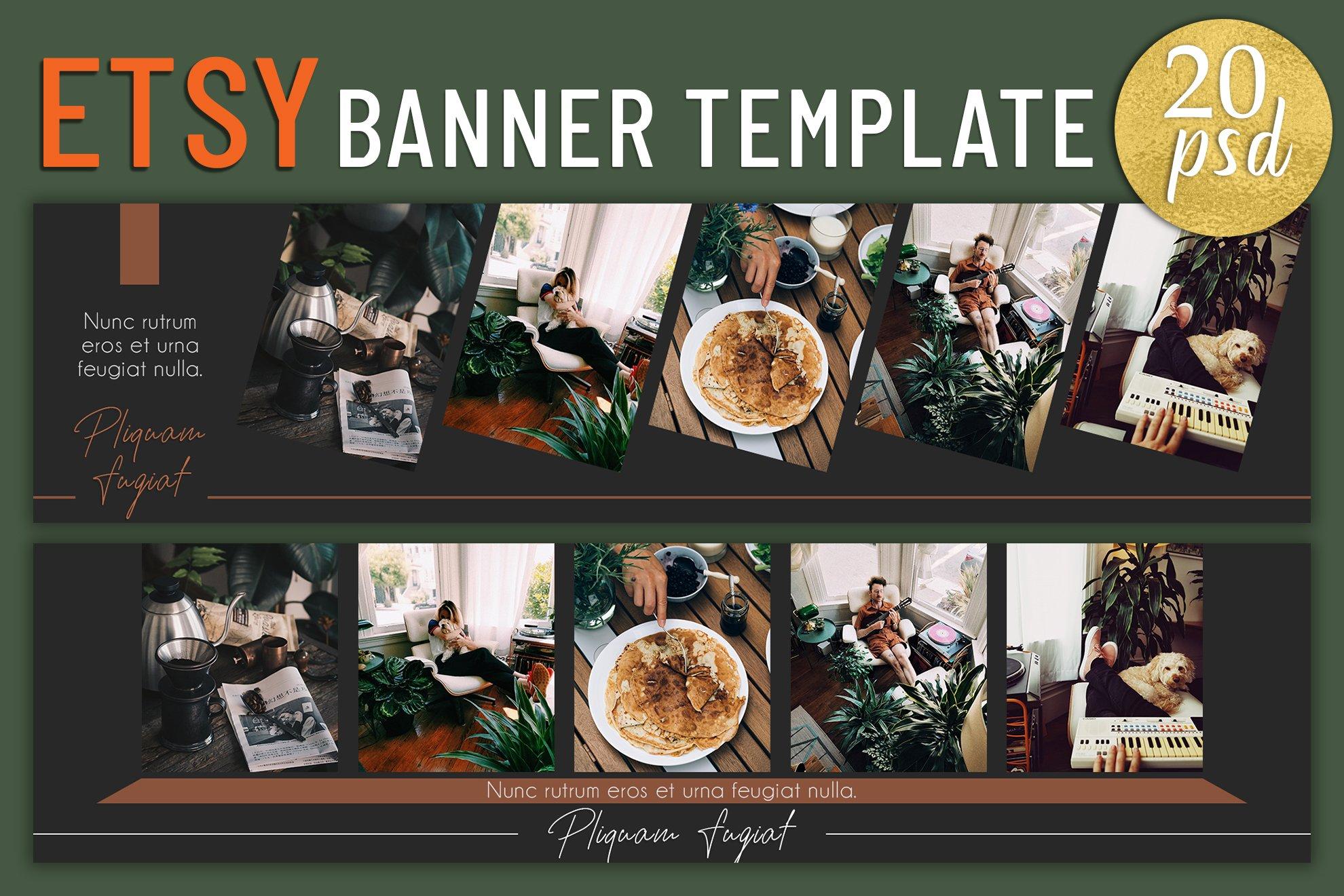 Etsy Banner Template Web Elements Creative Market