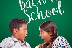 Back To School Written On Chalk Boar