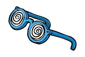 Doodle hypnotizing glasses