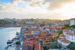 Skyline Old Town Porto Portugal