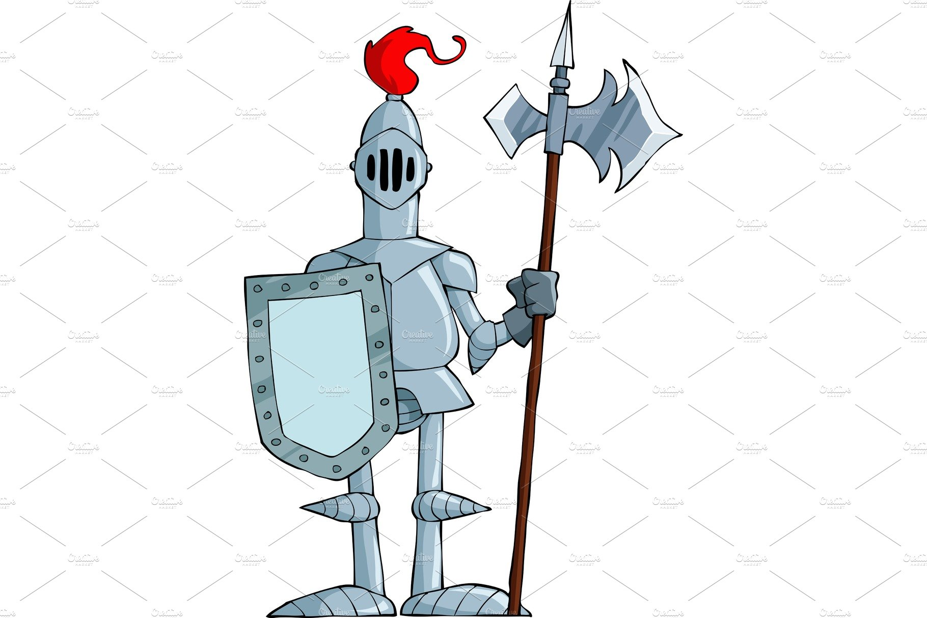Cartoon knight ~ Illustrations ~ Creative Market