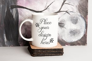 Halloween Fall Mug mockup 11oz cup
