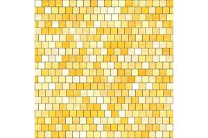 ceramic yellow orange mosaic