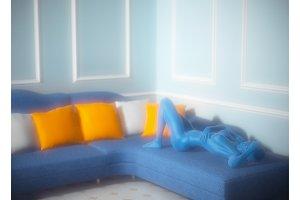 3d illustration of classic interior