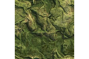 Aerial view from air plane of green