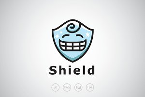Smiling Shield Logo Template