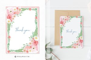 Floral Invitation Card Template