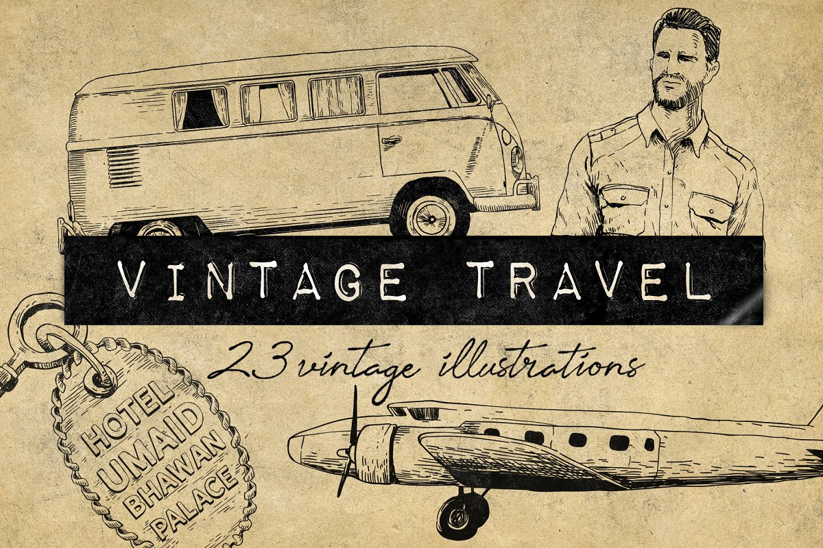 Vintage Travel Illustrations