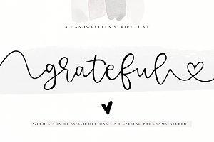 Grateful - Handwritten Script Font
