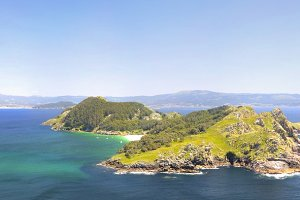 Cies islands in Vigo, Spain.