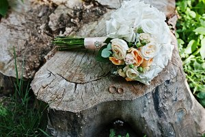 Tenderness wedding bouquet with pink