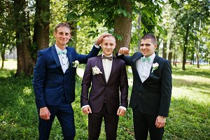 Groom with his best man's on wedding
