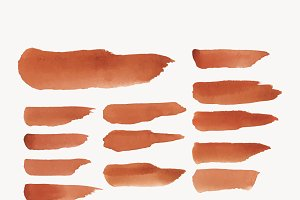 orange watercolor backgrounds vector