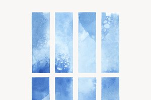 Blue watercolor backgrounds vector