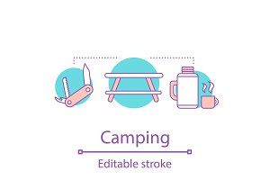 Camping concept icon