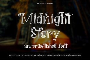 Sale! Midnight Story Font Family