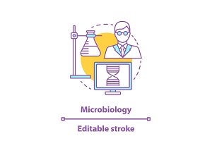 Microbiology concept icon