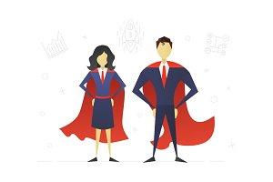 Super woman and superhero