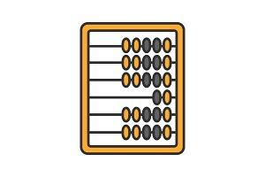Abacus color icon