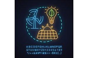 Alternative energy concept icon