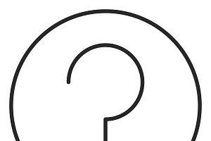 Question mark stroke icon