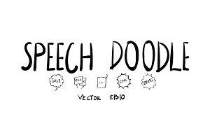 Speech Hand Drawn Doodle pack